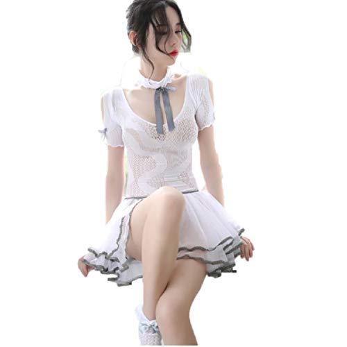 Butterfly BB Erotische Unterwäsche neues Wort Schulter Mesh Lace Maid Cute Magd Uniform Prinzessin Pettiskirt (Farbton Unterwäsche Frauen)
