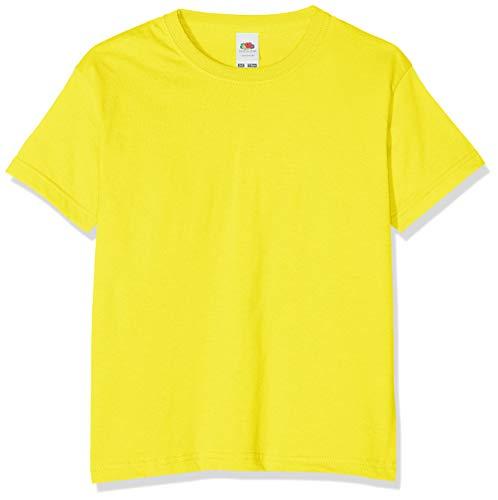 Fruit of the Loom Jungen T-Shirt, Yellow (Sunflower Yellow), 7-8 Jahre (128)