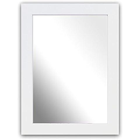 Inov8 A4 Kayla British marco de madera de espejo, blanco