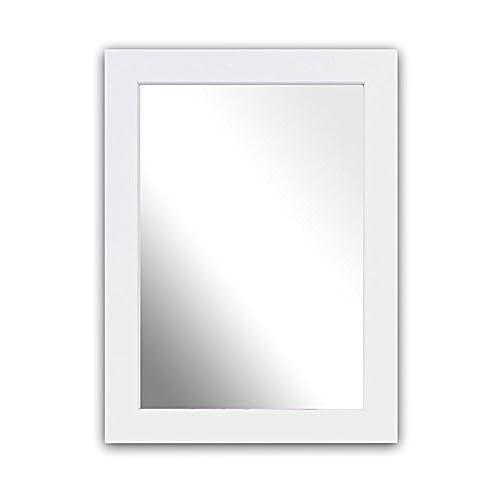 inov8 a4 kayla british made traditional real wood mirror white - White Frame Mirror