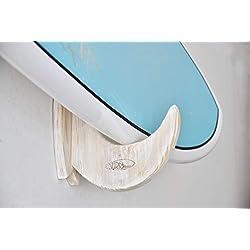 Support mural Planche de Surf en bois Fait main - Shabby Chic model