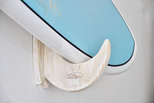 Surf4Home - Original Surfboard-Wandhalterung aus Holz - Ideal auch für Snowboards - Shabby Chic-Modell - Siehe andere Modelle