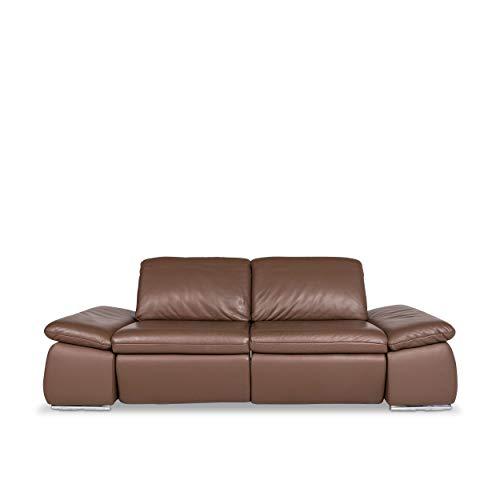 Koinor Evento Designer Leder Sofa Braun Zweisitzer Relax Funktion Couch #9624 - Leder-sofas Und Zweisitzer