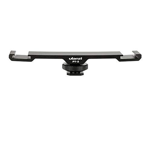 Yao Ulanzi PT-2 Dual Hot Shoe Mount Microphone Extension Bracket Bar Adapter Plate -