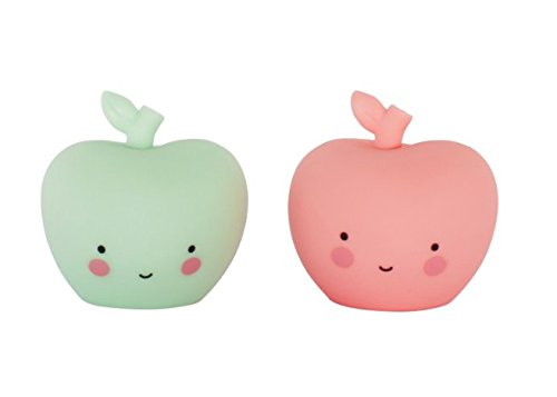 A Little Lovely Company - Kinderzimmerdekoration Dekofigur - Apfel - Mini Apples- 2er Set