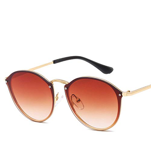 FGRYGF-eyewear2 Sport-Sonnenbrillen, Vintage Sonnenbrillen, Luxury Round Sunglasses Women Cateye Retro Rimless Sunglass Mirror Sun Glasses