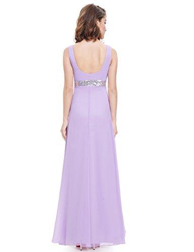 Ever Pretty Robe de soirée en V-col et avec des paillettes 09981 Violet clair