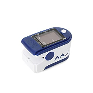 AAJ Finger Pulse Oximeter with LED Display (Includes Carrycase, 2 x AAA Batteries and Lanyard)