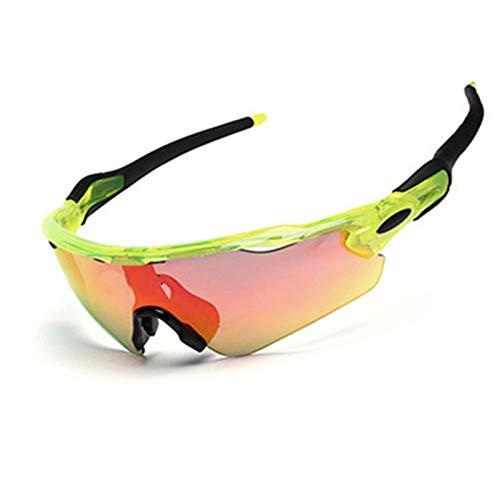 Radbrille Brillenträger Tr Halbrunde Polarisierte Reitbrille Für Außenbereich Green Black Damen Herren