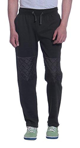 Tag 7 Men's Fleece Track Pant (TP02-L, Black, Large)