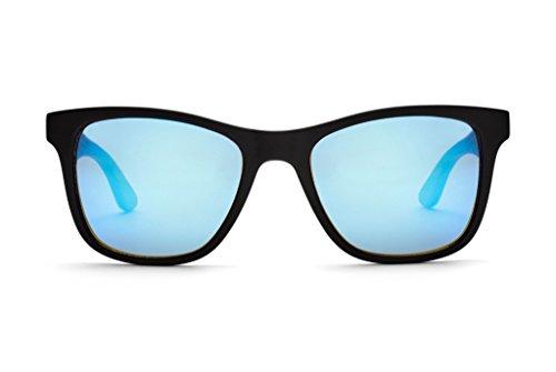 Take A Shot Sonnenbrille Clever Hans - Walnuss schwarz/braun (walnut/blue  mirrored/black matt)