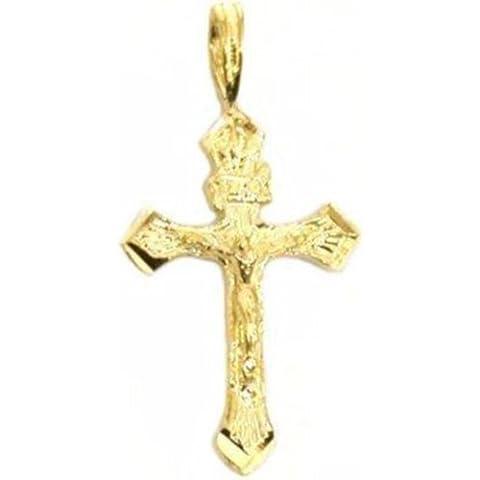 14K oro crucifijo religioso colgante cruz
