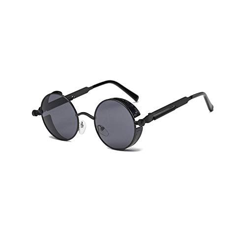 Sportbrillen, Angeln Golfbrille,Metal Round Steampunk Sunglasses Men Women Fashion Glasses Brand Designer Retro Frame Vintage Sunglasses High Quality UV400 1