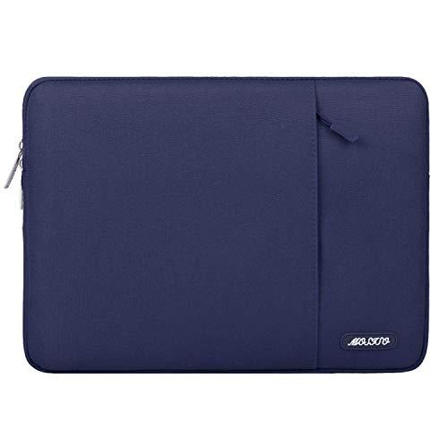 MOSISO Laptophülle Kompatibel 11-11,6 Zoll MacBook Air, Ultrabook Netbook Tablet, Polyester Wasserabweisend Vertikale Stil Sleeve Hülle Schutzhülle Laptoptasche Notebooktasche Case Bag, Navy Blau