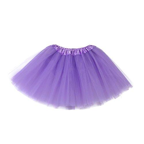 Kleid,Sannysis Niedlich Gute Qualität Baby Mädchen Kinder feste Tutu Ballett Röcke Fancy Party Rock (Lila) (Fancy Dress Ideen Für Babys)
