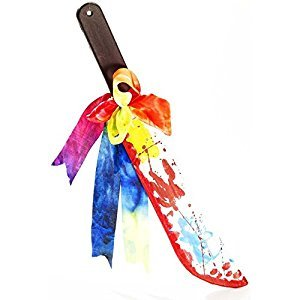 Bunt Halloween Blutig Clown Machete Kostüm Zubehör (Clown Zubehör)