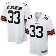 Cleveland Browns Nike Jeu NFL Jersey–Homme Richardson # 33–Extra Large–t.n.-o. de $100