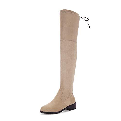 Damenstiefel Plus Samtfarbene Kniehohe Stiefel, Wildleder Plus Größe Damen Lange Stiefel, Warme Schuhe Halten, (Plus Größe Damen Stiefel)