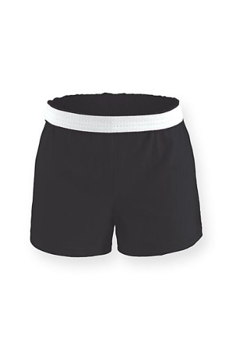 (M037) Soffe Cheer Short Black Adult L (Size 12-14)