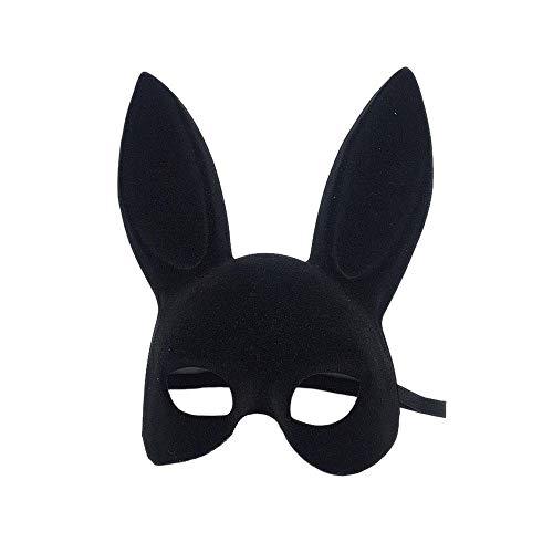 Kopf Kaninchen Kostüm - HEOWE Sexy Coole Kaninchen Kopf Latex Maske Katze Mädchen Halloween Ball Kostüm Cosplay Moive Saw Geschenk New @ Black