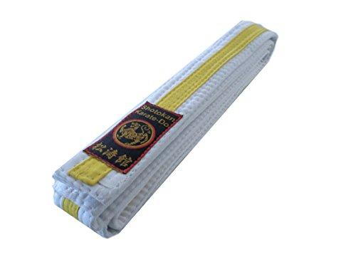 Karategürtel weiß-gelb mit Shotokan Label