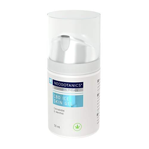 NEOBOTANICS® Nano CBD Ice Skin Schmerzgel. Kühlendes CBD Gelenk- und Muskelgel mit dem Wirkstoff Cannabidiol bei Muskel- und Gelenkschmerzen, Sportverletzungen. Reduziert Schwellungen & Entzündungen