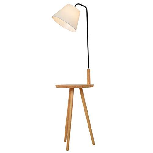 Lampadaire Lampadaire Élégant En Bois Lampadaire Personnalisé Lampadaire Vertical Rétro Lampe De Bureau Lumière Douce (Size : 140x40cm)