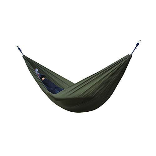 DBSCD Tragbare Camping-Hängematte, Einzel-Doppel-Hängematte, tragbare Doppel-Camping im Freien Hängematte Gartenreisen Camping Fallschirm Hängematte Camping, Reisen, Strand, Garten -