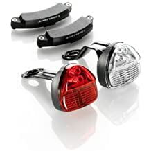 Bike-Parts - Conjunto de luces delantera y trasera para bicicleta (funcionamiento con dinamo, SL 150)