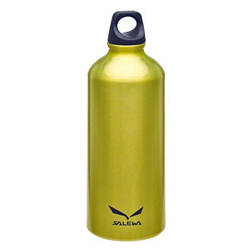 Salewa Traveller Alu Borraccia in Alluminio 0, 6 L, Unisex - Adulto, Giallo (Yellow), Taglia Unica