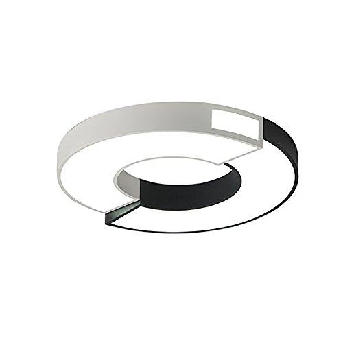 Moderne Minimalistische Runde LED-Deckenleuchte, Stufenlos Dimmbar, Eisen + Acryl-Material, LED-Patch-Lichtquelle, Durchmesser 45Cm / 60Cm.220V, 32W / 48W, Bestrahlungsbereich: 12M2 / 18M2, Studie (Patch Material Eisen)