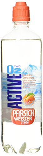 Active O2 Natural Pfirsich Weißer Tee, 8er Pack, Einweg (8 x 750 ml)