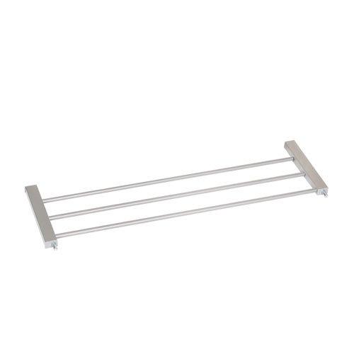 Hauck Treppen- / Tür schutzgitter aus Holz und Metall für Kinder, Hunde und Katzen, Befestigung ohne Bohren, zum Aufstecken, Klemmen, Verlängerung 21 cm für Wood Lock, grau silber