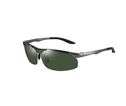 ZTMN Polarisierte Sonnenbrille männer Sport Fahren leichte Aluminium Magnesium uv schutzbrille Multicolor optional (Farbe: Gun Rahmen dunkelgrün) -