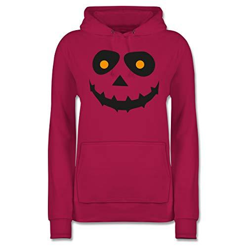 Shirtracer Halloween - Gruseliges Gesicht Fasching - L - Fuchsia - JH001F - Damen ()
