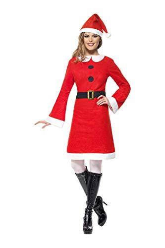 Smiffys 26965M Miss-Santa-Kostüm für Erwachsene, M, rot