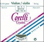 Corelli Crystal Violin Strings, Set, Loop E Light 4/4 Size