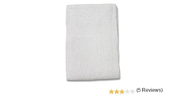 Soleil dOcre 441040 Drap de Bain Coton Blanc 70 x 130 cm