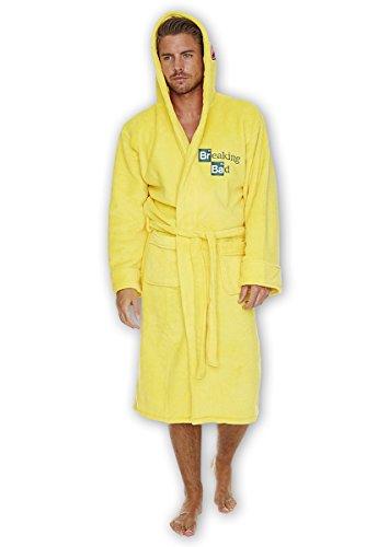 Breaking Bad Heisenbergs Laboranzug Bademantel mit Serienlogo lizenziert das Geschenk (Anzug Gelben Breaking Bad Kostüm)
