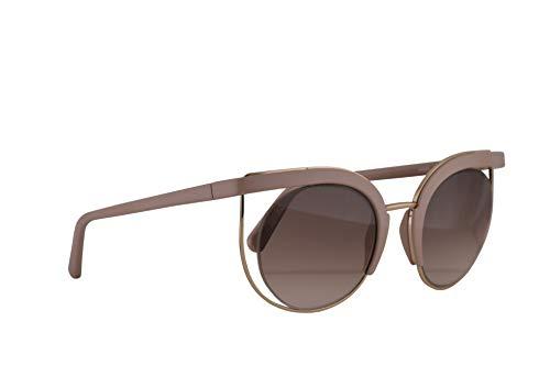 Salvatore ferragamo donne sf909s occhiali da sole w/lenti grigie 51mm 298 sf 909s arrossire grande