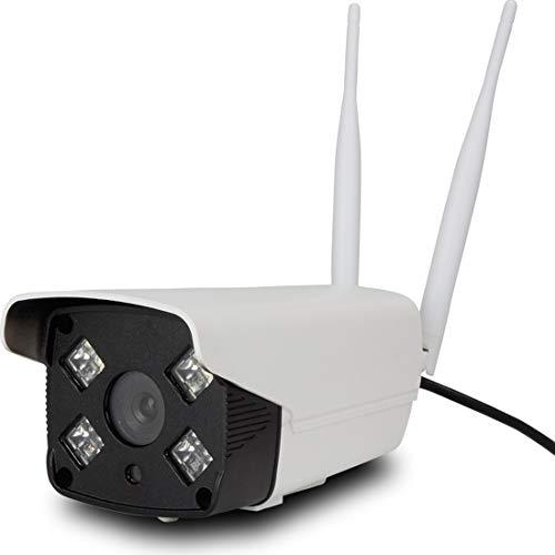 ERSD Dual Light Source Im Freien Wasserdichte Wireless Wifi Network Intelligente Überwachungskamera Mit Pickup Tag und Nacht Vollfarbkamera Smart Home Camera (Farbe : White)