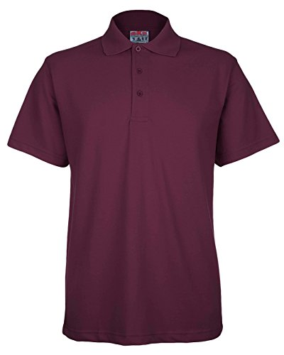 Mens Active Pique Polo T Shirt Size S to 4XL By BKS - SPORTS WORK LEISURE (Medium, Maroon)
