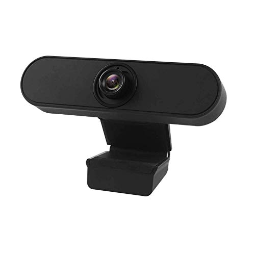 Jelly Comb 1080P Full HD USB Webcam, PC Kamera mit Stereo Mikrofon für Skype, Videoaufnahme, Streaming, Schwarz