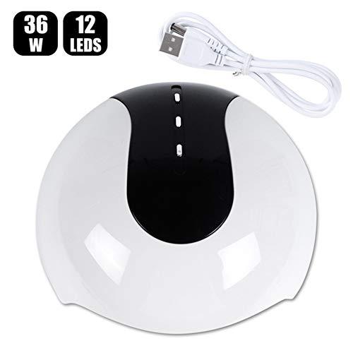 QINAIDI UV-LED-Nagellampen-Trockner, 36W-Nagelhärtungslampe, 30s / 60s / 90s-Timer zum Härten von LED-Gel-Nagellack, für den Salon und zu Hause,4