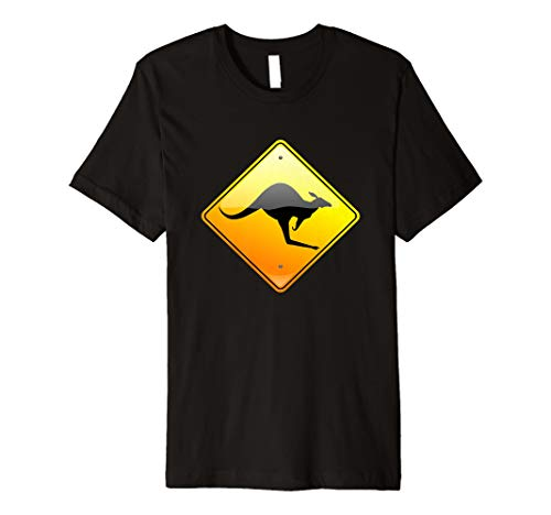 Känguru CROSSING Traffic Road Street Sign T-Shirt -