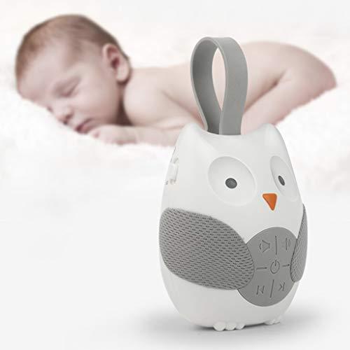 Dkings Eule Noise Machine für Baby, White Noise Baby-Schlaf-Maschine Schnuller Schlaf-Helfer mit Naturmusik-Sound-Maschine für den Schlaf Entspannen Sie Sich Baby-Geschenk (Weiß) (Entspannen Maschine)