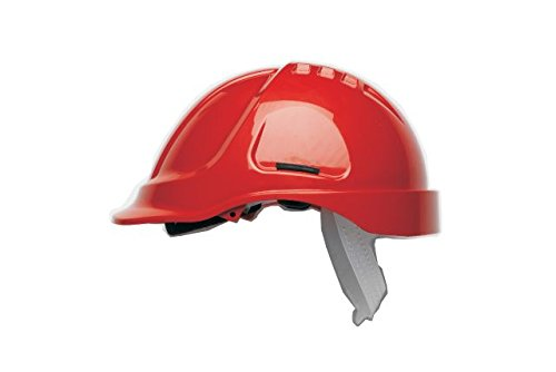 Scott Safety HC600/R Helmet Unvented with Sweatband, Red