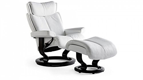 Stressless® Magic Sessel mit Hocker (L) Weiß günstig