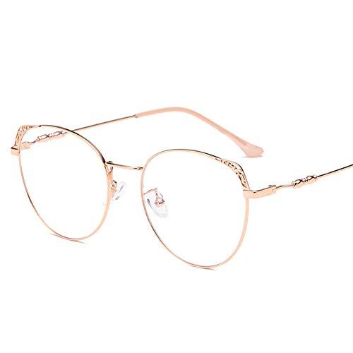 Z&HA Nicht-verschreibungspflichtige Brille Flache Spiegel Männliche Myopie Vollbild Anti-Blau-Licht-Strahlung Brillen Computer-Telefon der Frauen Augenschutz Brillen Anti-UV,02