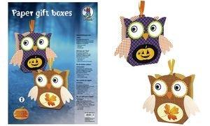 Ursus 28200001Paper Gift Boxes Búhos Juego 1, Multicolor